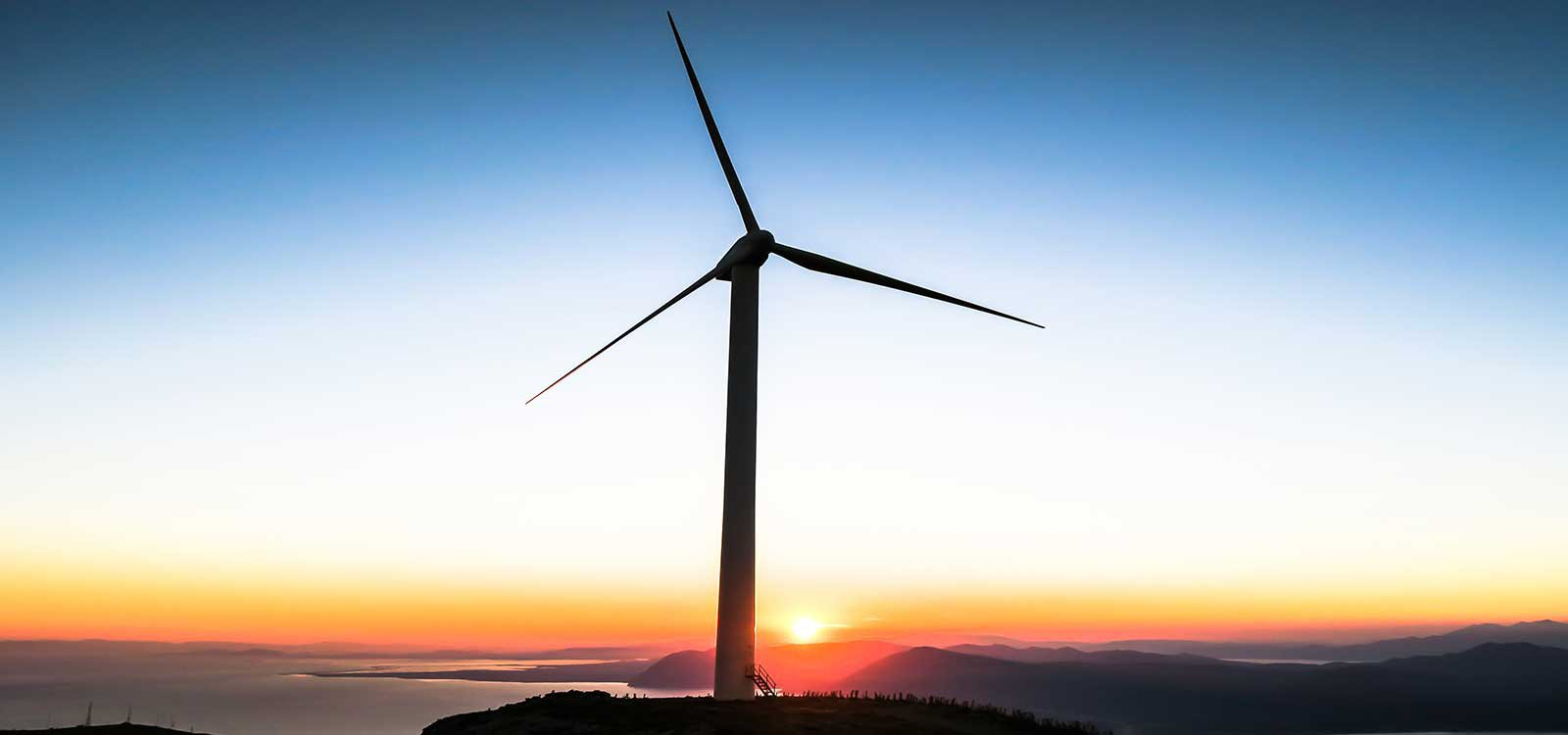 wind mill sunset